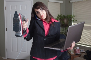 bigstock-Angry-busy-professional-woman-23158127